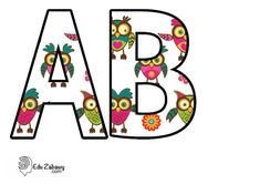 Kolorowe litery i cyfry: Sówki: litery duże do ozdabiania, dekorowania sali przedszkola, szkoły. Gotowe tablice i szablony do pobrania i drukowania za darmo. Alfabet polski - plansze z ozdobnymi literami. Paper Mosaic, Flower Wallpaper, Lego, Classroom, Kids Rugs, Flowers, Wedding, Owls, Lyrics