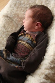 A tutorial for recycling old t-shirts to baby sacks. You could make some really cute ones with some clearance t-shirts. love this.