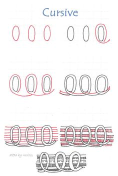 Cursive-tangle pattern by molossus, who says Life Imitates Doodles, via Flickr