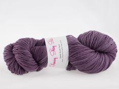 Purple Rain - Luxury Fingering Weight - Merino, Cashmere & Nylon - 100 g - 425 yds