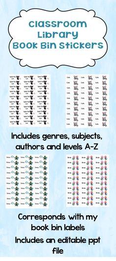 Classroom Library Labels Freebie Sample Classroom Ideas