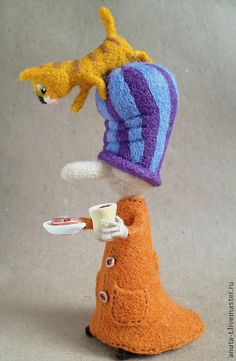 "Thumbnail handmade. Fair Masters - handmade wool composition of ""sausage"". Handmade."