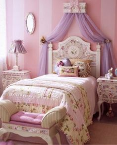 I love this idea for a canopy.   princess bed  @ sweet n sour kids