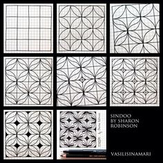 Zentangle pattern drawn by Vasilisinamari