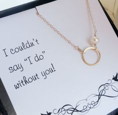 adorable thank you gift for bridesmaids @Carrie Ward