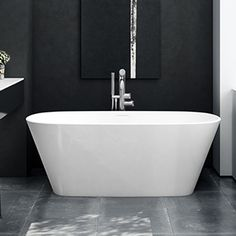 The Victoria + Albert Vetralla Freestanding Bath features a simple yet contemporary style and is manufactured from a luxurious Quarrycast stone mix. Family Bathroom, Modern Bathroom, Small Bathroom, Bathrooms, Small Freestanding Tub, Victoria And Albert Baths, Built In Bath, Bath Uk, Bath