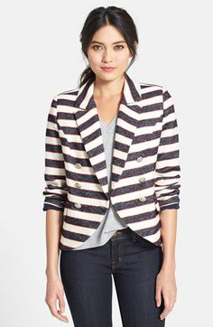 love this striped blazer!