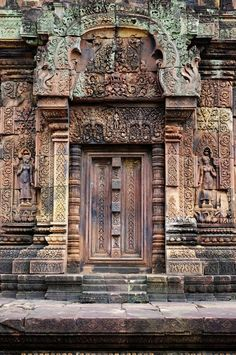 Ancient doors of temple. Location: Angkor. (photo National Geographic)