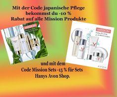 Satte Rabatte für die Produkte der Avon Mission Linie - Hanys Avon Shop Shops, Youtube Kanal, Japan, Broadway, Simple Lines, Tents, Retail, Japanese, Retail Stores