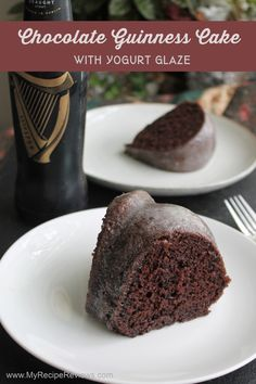 Deeply chocolate cake made with a whisper of Guinness stout and topped with a tangy yogurt glaze. Chocolate Guinness Cake, Chocolate Cake, Vanilla Yogurt, Food Reviews, How To Make Cake, Whisper, My Recipes, Glaze, Cocoa