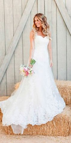 Bridal Inspiration: Country Style Wedding Dresses ❤ See more: http://www.weddingforward.com/country-style-wedding-dresses/ #weddings