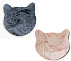 Marbled Leather Cat Coasters