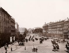 Calle Alcalá año 1890, Madrid.