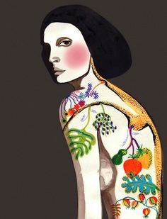 woman illustration by Peggy Wolf