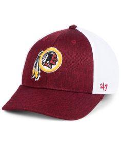47 Brand Washington Redskins Hazy Flex Contender Stretch Fitted Cap - Red  L XL.   809382e2cbbf
