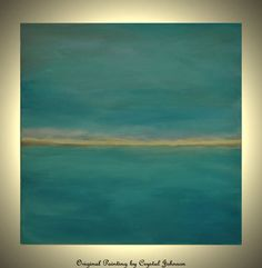 Seascape 20x20 Original Acrylic Abstract Canvas Painting Turquoise Painting Waters Ocean Painting Sea Teal Painting