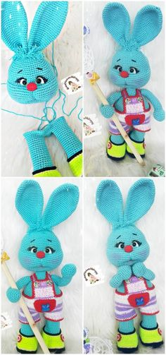 We have put together the best Amigurumi bunny weave patterns for you. All of the beautiful toy knitted rabbit models, amigurumi crochet bunny free pattern. Easter Crochet, Cute Crochet, Crochet Crafts, Crochet Dolls, Crochet Baby, Crochet Projects, Knit Crochet, Crochet Bunny Pattern, Crochet Rabbit