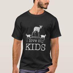 I Love My Kids Goat T-Shirt #health #gift #home goat design, goat skull, nigerian dwarf goat, back to school, aesthetic wallpaper, y2k fashion