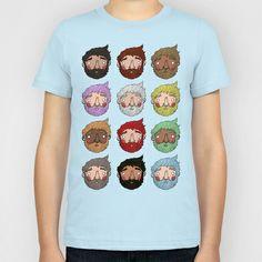 Beards Kids T-Shirt by Anguiano Art - $20.00