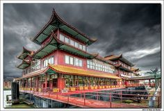 "Rotterdam - Chinese Floating Restaurant by Hans van Bockel on Flickr | This floating chinese hotel-restaurant ""New Ocean Paradise"" is situated in the Parkharbour"