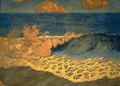 Marine bleue, Effet de vague (Navy Blue, Effect of Waves) (1893) – Georges Lacombe (1868–1916)