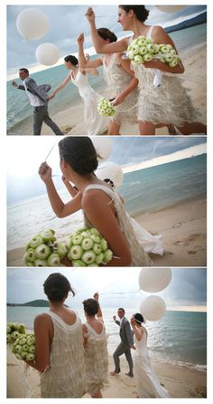 Fringy dresses, balloons and the beach. Looks fun!