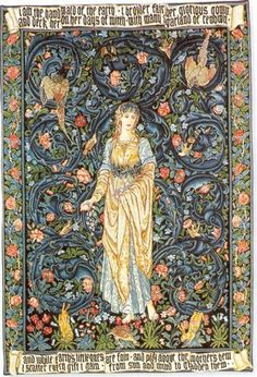 William Morris (24 March 1834 – 3 October 1896) was an English textile designer, artist, writer, and libertarian socialist associated with the Pre-Raphaelite Brotherhood and English Arts and Crafts Movement.