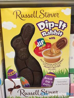 Image for Solid Milk Chocolate Dip-It Rabbit with Jif® Peanut Butter Dip, 6 oz. from Russell Stover Bulk Chocolate, Dark Chocolate Candy, Chocolate Rabbit, Chocolate Easter Bunny, Chocolate Dipped, Jif Peanut Butter, Russell Stover, Easter Candy, Easter Eggs