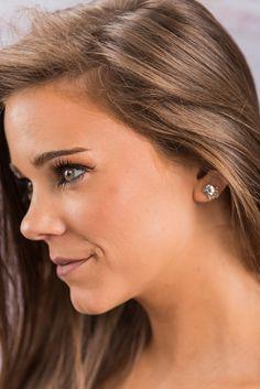"""""""Creative Crown Earrings, Crystal"""""""