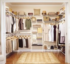 "Designed to suit any walk in enclosure up to 8' / 2.44m square, walk in closet 7 has everything you need to install your closet as shown in the pictures! Created using our 12"" (30.5cm) deep SuperSlide shelving, our walk in closet kits are great for turning a spare room or a plain dressing room into a fabulous, fully functional walk in closet at a great price. 