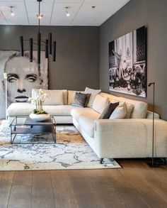 36 popular rustic farmhouse living room decor ideas for comfortable home Living Room Grey, Living Room Sofa, Home Living Room, Interior Design Living Room, Living Room Designs, Living Room Decor, Cream Sofa Living Room Color Schemes, Dining Room, Apartment Living