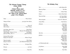 Creative Wedding Programs | 21st - Bridal World - Wedding Ideas and Trends