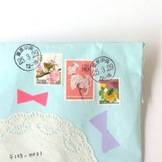 mail from me to you ミ☆ Envelope Art, Envelope Design, Paper Cards, Diy Paper, Cute Envelopes, Writing Paper, Letter Writing, Art Graphique, Custom Stamps