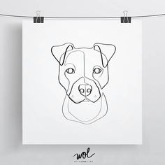 The Pit Bull Pooch One Line Drawing is now available for a limited time only! The print is hand signed and numbered with a small run of only 25 prints. This is your chance to own or give a unique piece as a gift for a friend, family, or loved one in your life. It is printed on beautiful