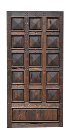 Pyramid Panel Wood Door: Made By Master Craftsman From Solid.- Pyramid Panel Wood Door: Made By Master Craftsman From Solid Timber Entrance Door – Design From Historic Record – - Front Gate Design, Double Door Design, Door Gate Design, Wooden Door Design, Main Door Design, Custom Wood Doors, Rustic Doors, Wooden Doors, Double Sliding Barn Doors