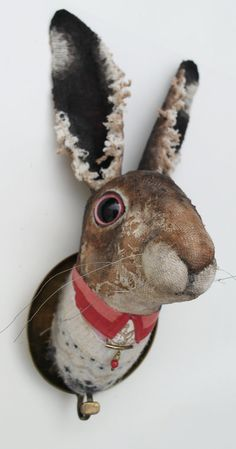 Mr Skipholm. Heavily Textured Textile Hare by Annie Montgomerie