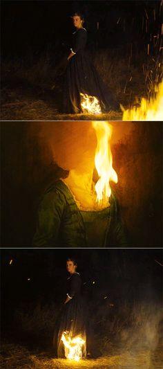 portrait of the lady on fire art Portrait, Celine, Fire Movie, Film Le, Fire Painting, Fire Photography, Movie Shots, Beautiful Film, Fire Art