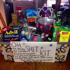 This is a BA 21st Birthday Present shot basket Get creative