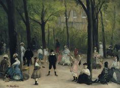 William James Glackens - Luxembourg Gardens [1906] | [Corcoran Gallery of Art, Washington