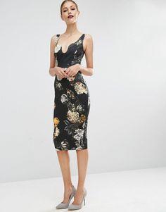 df5af3fb8b56 ASOS Floral Hitchcock Pencil Dress on ShopperBoard