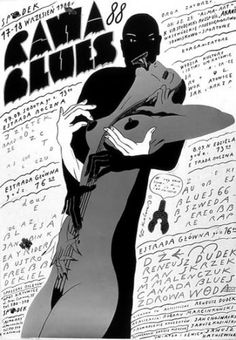 RAWA BLUES, Poster by Roman Kalarus, Polish Poster School
