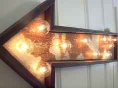 light fixture lamp metal sign hotel arrow barn wood & by mwest0425