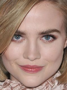 Close-up of Maddie Hasson at the 2016 premiere of 'I Saw the Light'.