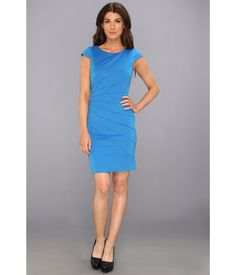 All eyes will be on you in this striking Jessica Simpson™ dress.. Curve-hugging dress flaunts angl...