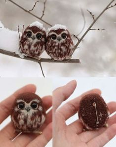 These are NOT two happy owls - Imgur #feltowls
