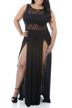 Women's Sexy Plus Size Reign Maxi Dress