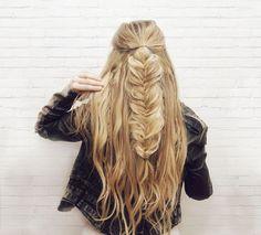 Kassinka Half-up Fishtail Braid Hair Tutorial