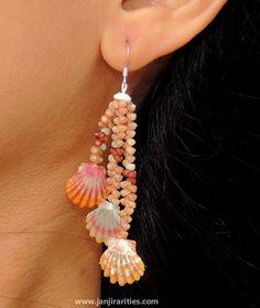 Sunrise+Shell+Earrings+by+Janjirarities+on+Etsy,+$175.00