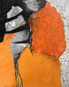 """""""Nautile"""" by Isabelle Malmezat - mixed media on canvas (portfolio 2006-2010)"""