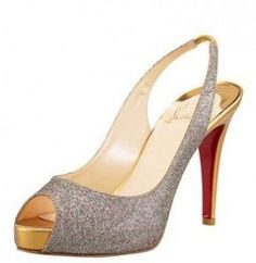 Black Christian Louboutin Leather Peep Toe Highness Platform Pumps